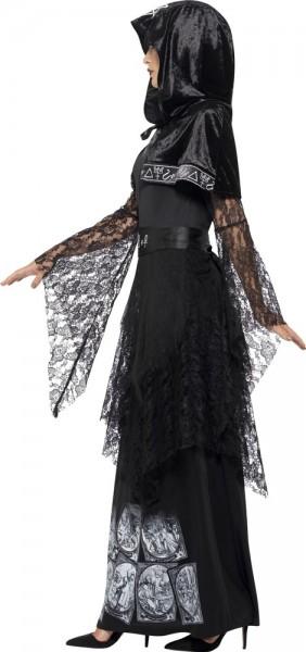 Déguisement de magicien noir hexa pour femme