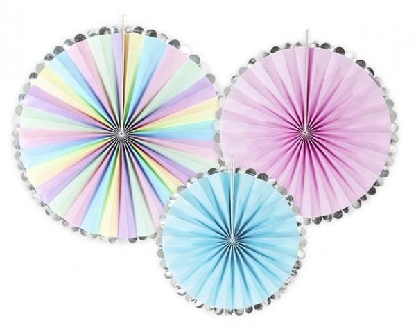 3 Einhorn Twinkle Papierrosetten