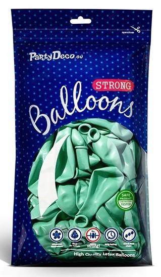 100 Partystar metallic Ballons mint 23cm
