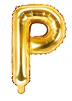 Folienballon P gold 35cm