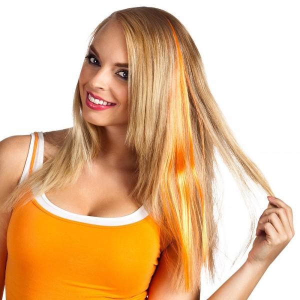 Haarsträhne orange