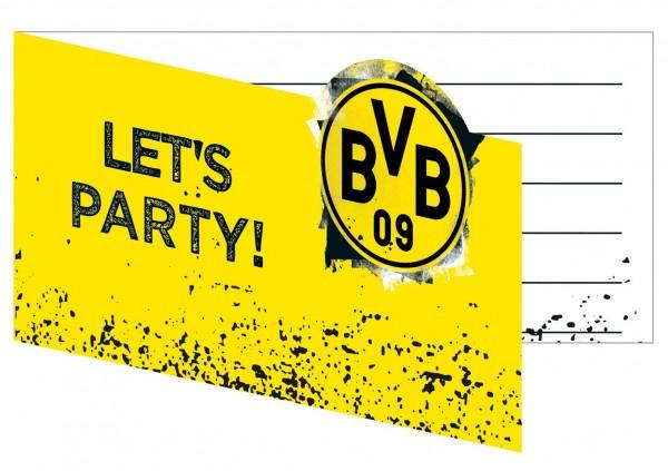 8 tarjetas de invitación del BVB Dortmund