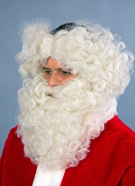 Barba santaclauso blanca con diadema