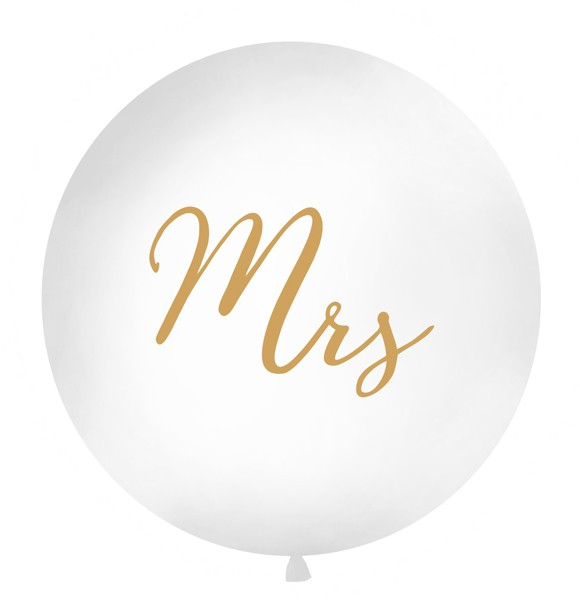 Mrs XL Ballon gold 1m