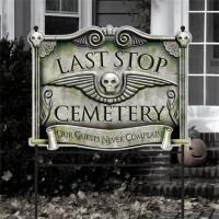 Last Stop Cemetery Schild 78cm