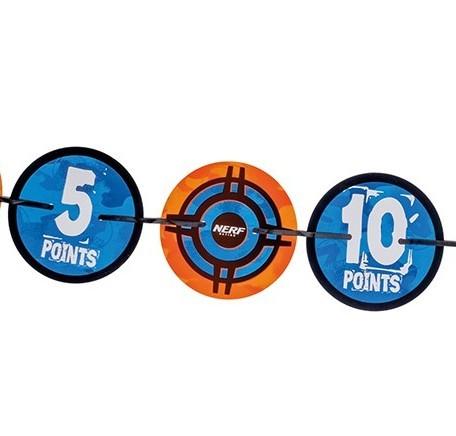 Nerf Battle Zone Girlande mit Zielscheiben 1,9m