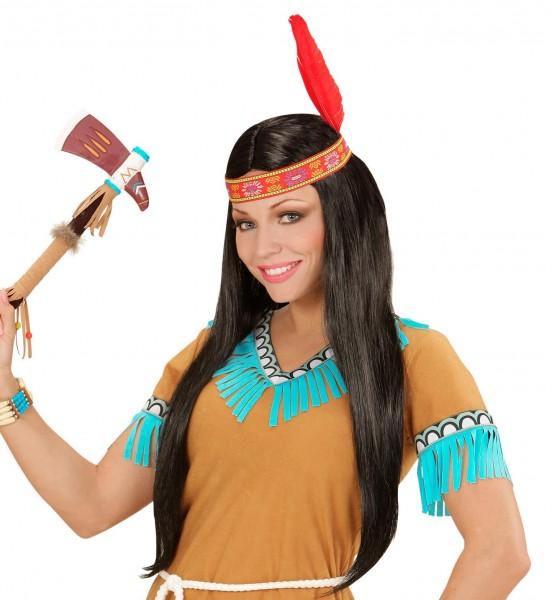 Ayala Indianerfrau Perücke Mit Feder