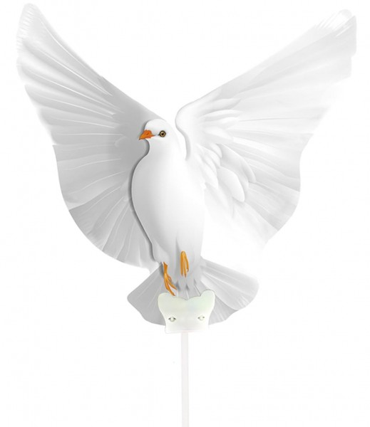 Ballon de mariage en aluminium colombe de la paix