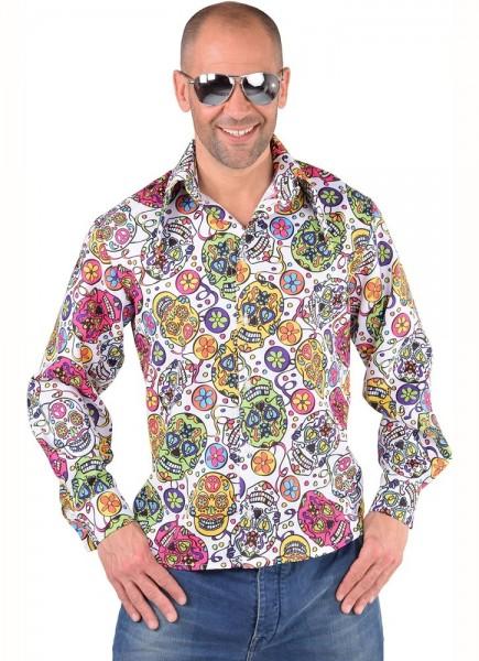 Chemise de soirée Dia de los Muertos pour homme