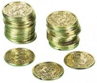 72 Gold Dukaten Piraten Münzen