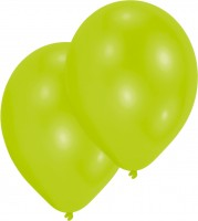 10er-Set Luftballon Limonengrün 27,5cm