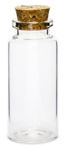 12 Gastgeschenk Flaschen 7,5cm