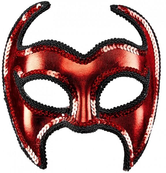 Devilish eye mask with sequins