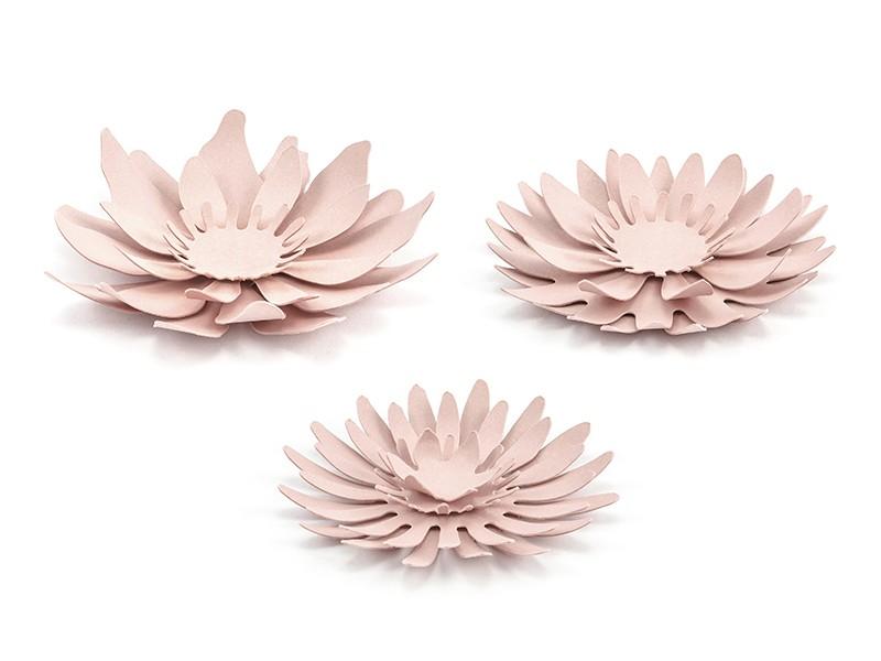 3 Blumen Tischdeko Altrosa 8cm Party De