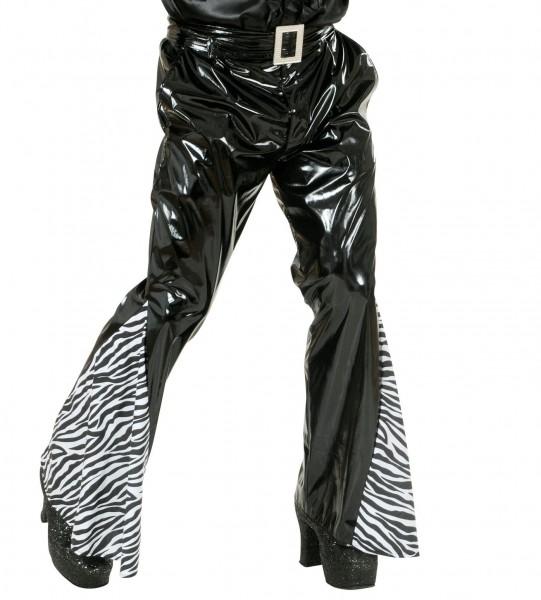 Zebra Lackoptik Schlaghose