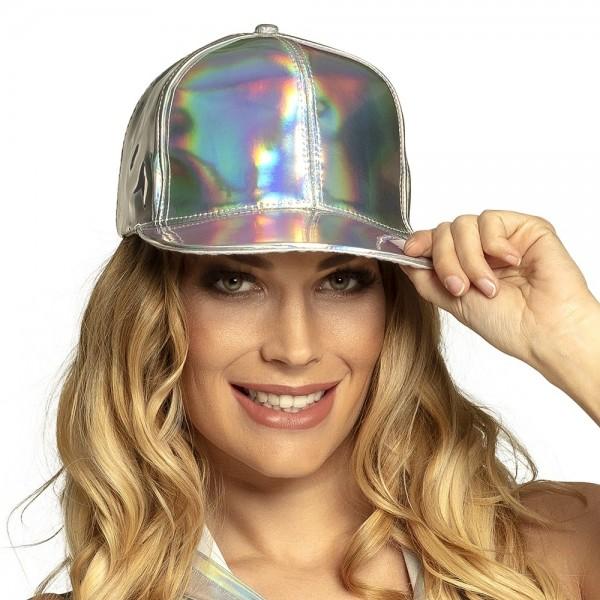 Holografische Baseball Cap silber