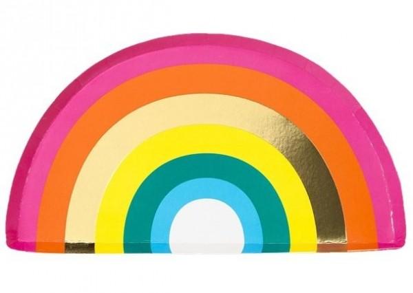 12 assiettes en papier arc-en-ciel 25,5 cm