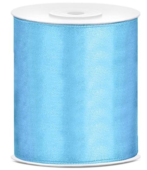 25m wstążka prezentowa niebieska o szerokości 10 cm