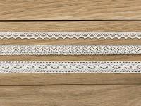 1,5m Vintage Spitzenband Marie weiß 3er Set