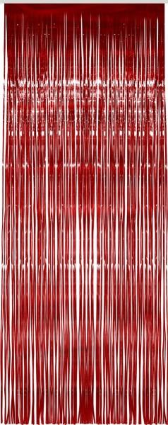 Roter Glitzer Lametta Vorhang 91x244cm