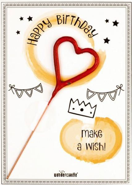 Compleanno Hezr Wondercard Esprimi un desiderio