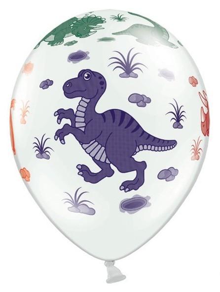 Ballons en latex avec dinosaures 6 pcs