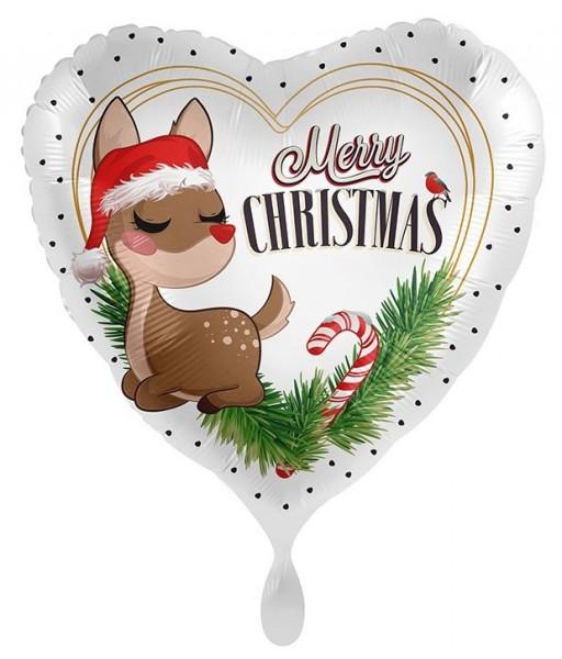 Joyeux Noël ballon aluminium renne 71cm