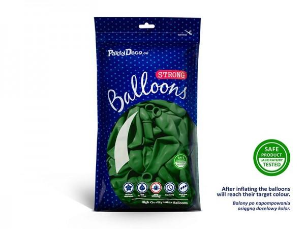 50 party star montgolfière vert sapin 27cm