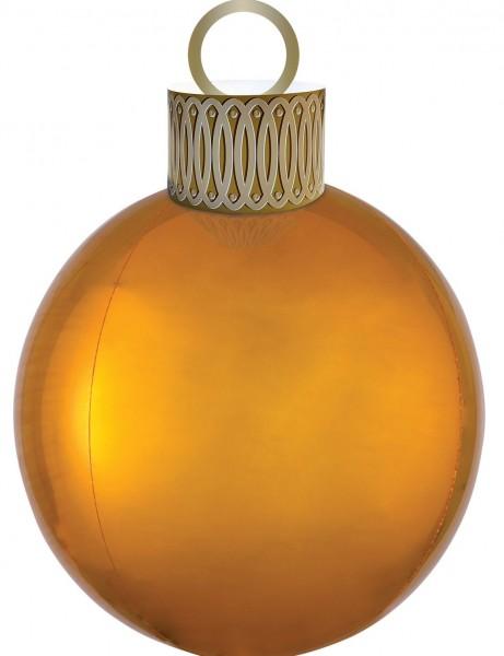 Ballon de Noël ballon or 38 x 50cm