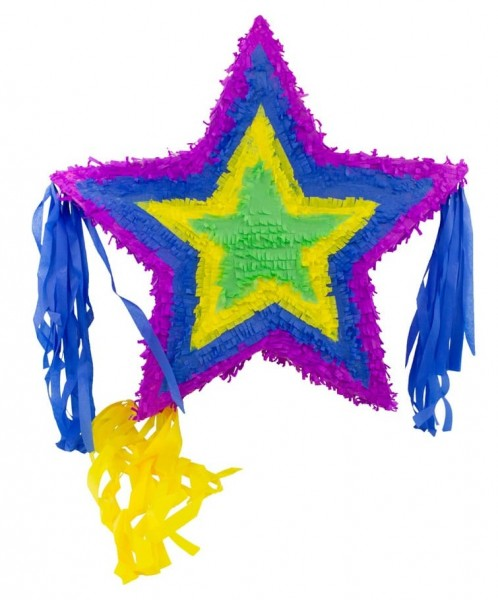 Pinata colorata stella 57 centimetri