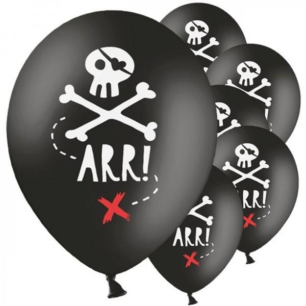 6 Südsee Piraten Luftballons 30cm