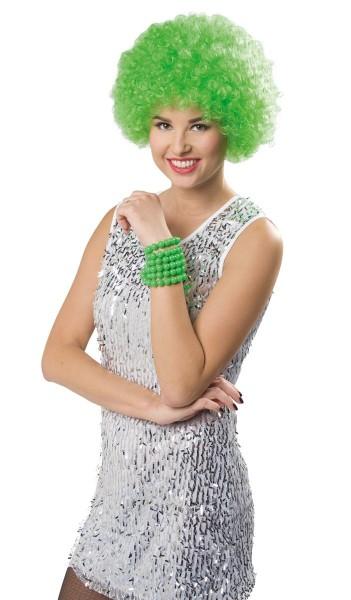 Afro Perücke Kermit grün