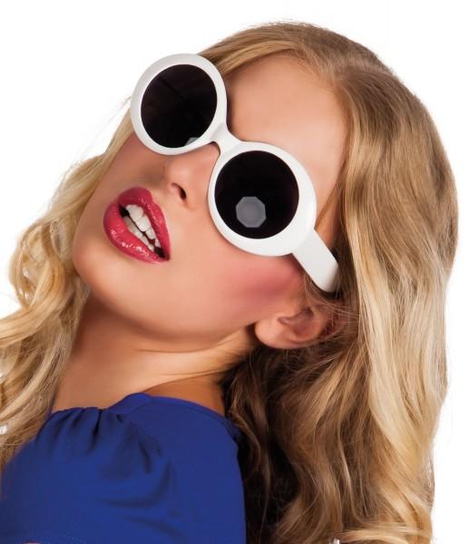Stylische Weiße Sonnenbrille