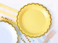 Vorschau: 6 Candy Party Pappteller gelb 18cm