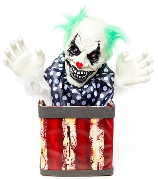 Animierter Horror Clown Schachtelteufel
