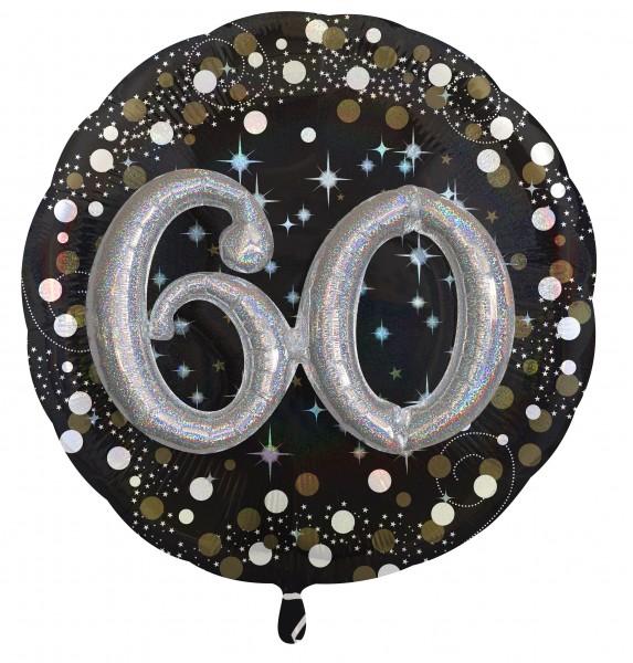 Golden 60th Birthday Folienballon 81cm