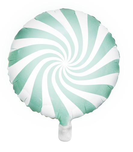 Candy Swirl Foil Balloon Mint 45cm