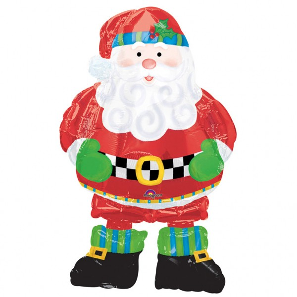 Happy Santa Airwalker Folienballon 94cm