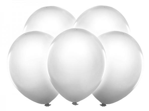 5 LED Ballons weiß 30cm 1