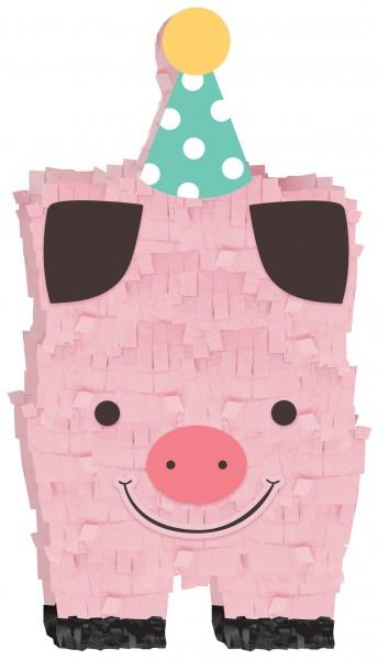 Happy Farm Life Schwein Dekofigur 17,7cm