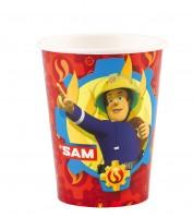8 Feuerwehrmann Sam SOS Pappbecher 266ml
