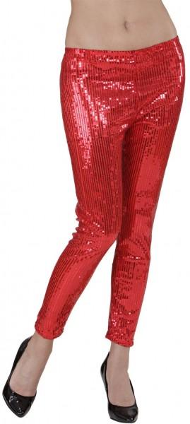 Rode feestelijke legging met lovertjes