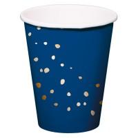 8 Trinkbecher Elegant blue 350ml