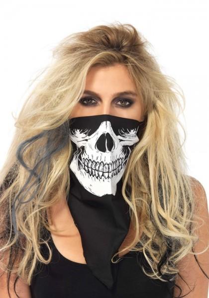 Masque bandana crâne noir et blanc