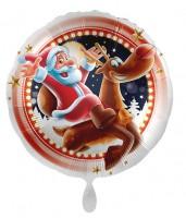 Happy Santa Christmas Folienballon 71cm