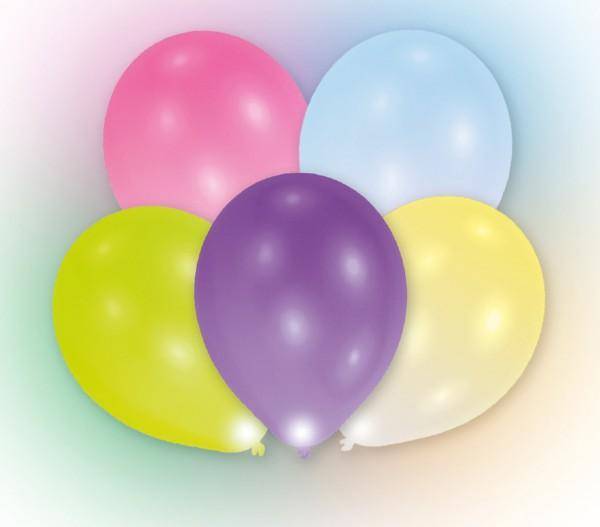 5 palloncini LED Colorati 24 ore di masterizzazione
