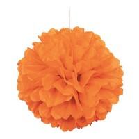 Orangener Fluffy Pompon 40cm