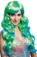 Blau-Grüne Märchen Perücke Für Damen