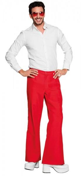 Pantalones De Campana De Los Anos 70 Rojos Para Hombre Party Es