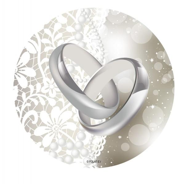 24 Untersetzer Hochzeitsringe 1